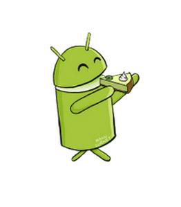 Android Key Lime Pie mascota logo
