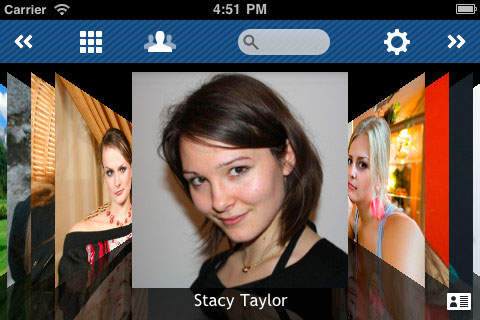 Visualiza tus contactos de iPhone en cover flow.