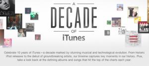 iTunes cumple una década de vida.