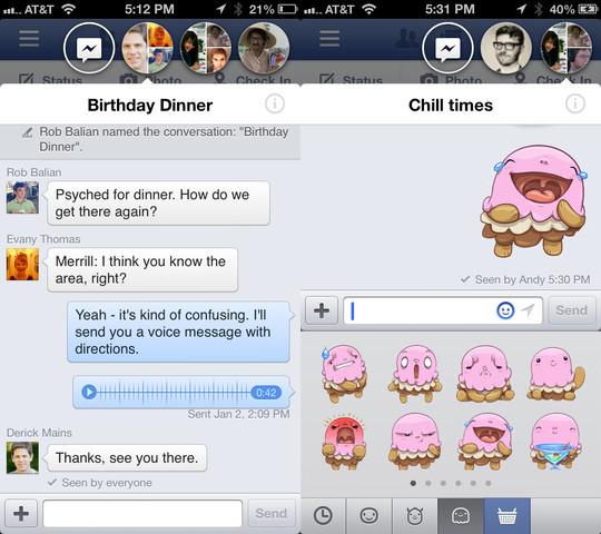 Chat Heads fuera de Facebook en iOS gracias a jailbreak.