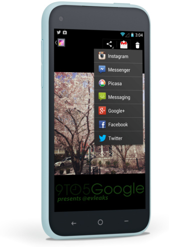 Facebook Home interfaz Android en HTC First Galería