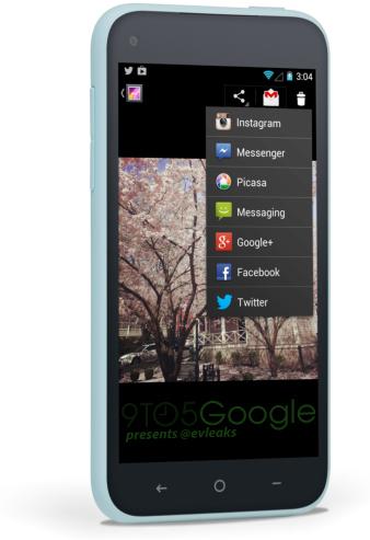 Facebook Home interfaz Android en HTC First Galería