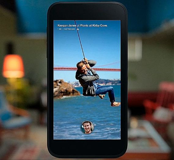 Facebook Home para Android pantalla de Inicio Home