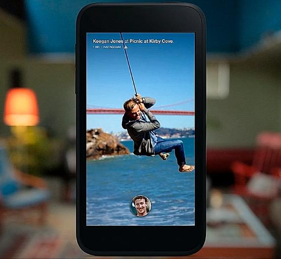 Facebook Home para Android pantalla de Inicio Home