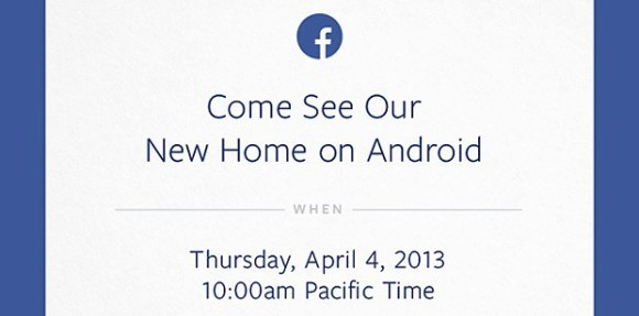 Facebook invitación evento Android para el 4 de abril