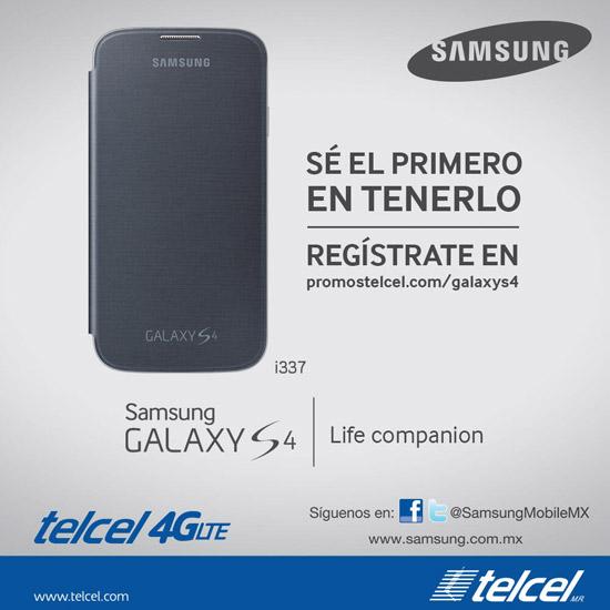 Póster oficial del registro en México con Telcel versión i337 quad-core