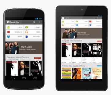 Google Play Store nuevo diseño interfaz smartphones y tablets