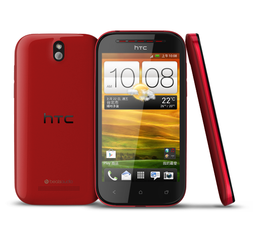 HTC Desire P color rojo