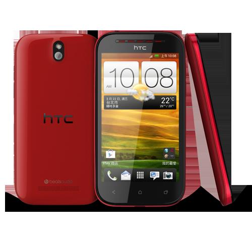 HTC Desire P color rojo