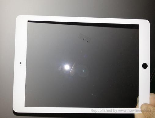 iPad 5 su panel frontal filtrado rumor