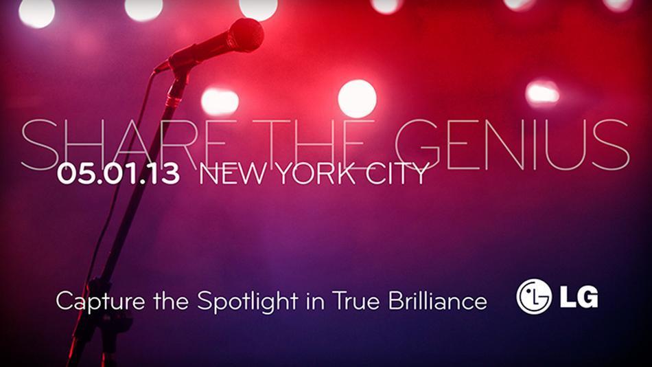 LG invitación Share The Genius para mayo 2013