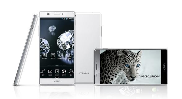 "Pantech Iron Vega pantalla 5"" HD color blanco"