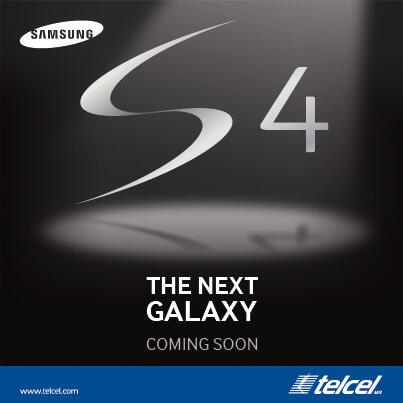 Póster oficial Samsung Galaxy S 4 en México con Telcel
