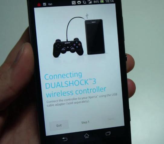 Sony Xperia SP función Dualshock 3 wireless controller