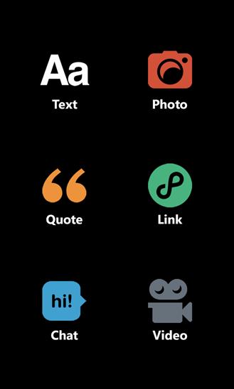 Tumblr app Windows Phone