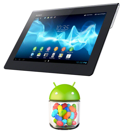 Xperia Tablet S con Android Jelly Bean Logo