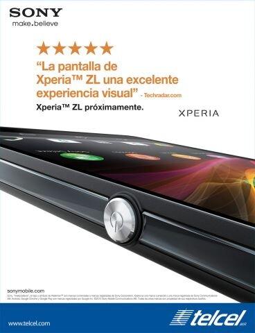 Sony Xperia ZL pronto con Telcel póster