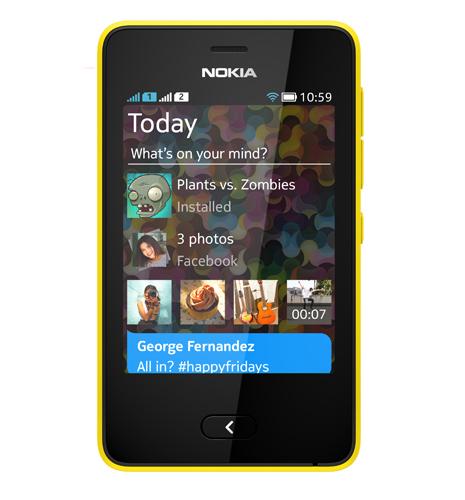 Nokia Asha 501 oficial pantalla color rojo