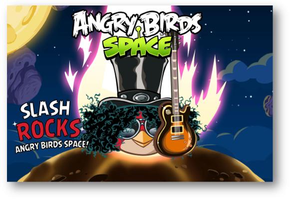 Angry Birds Space llega a BlackBerry 10 con Slash bird