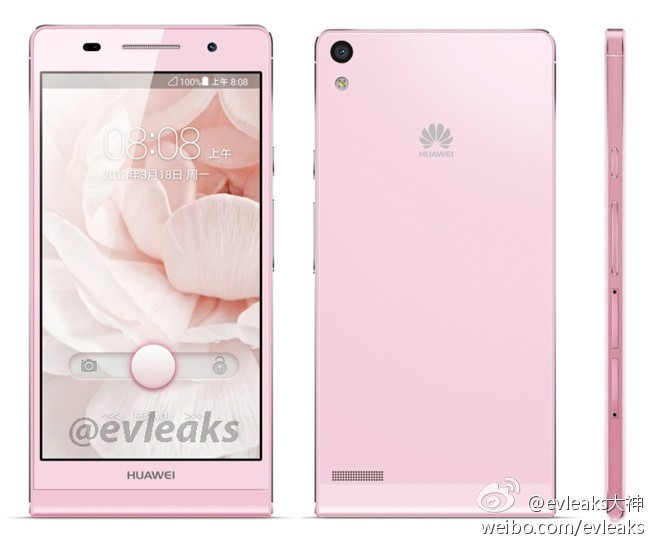 Huawei Ascend P6 oficial color Rosa Pink