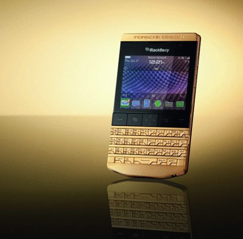 BlackBerry Porsche Design P9981 Gold edition en Oro