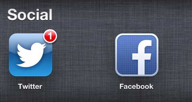 Icono de Facebook en iOS