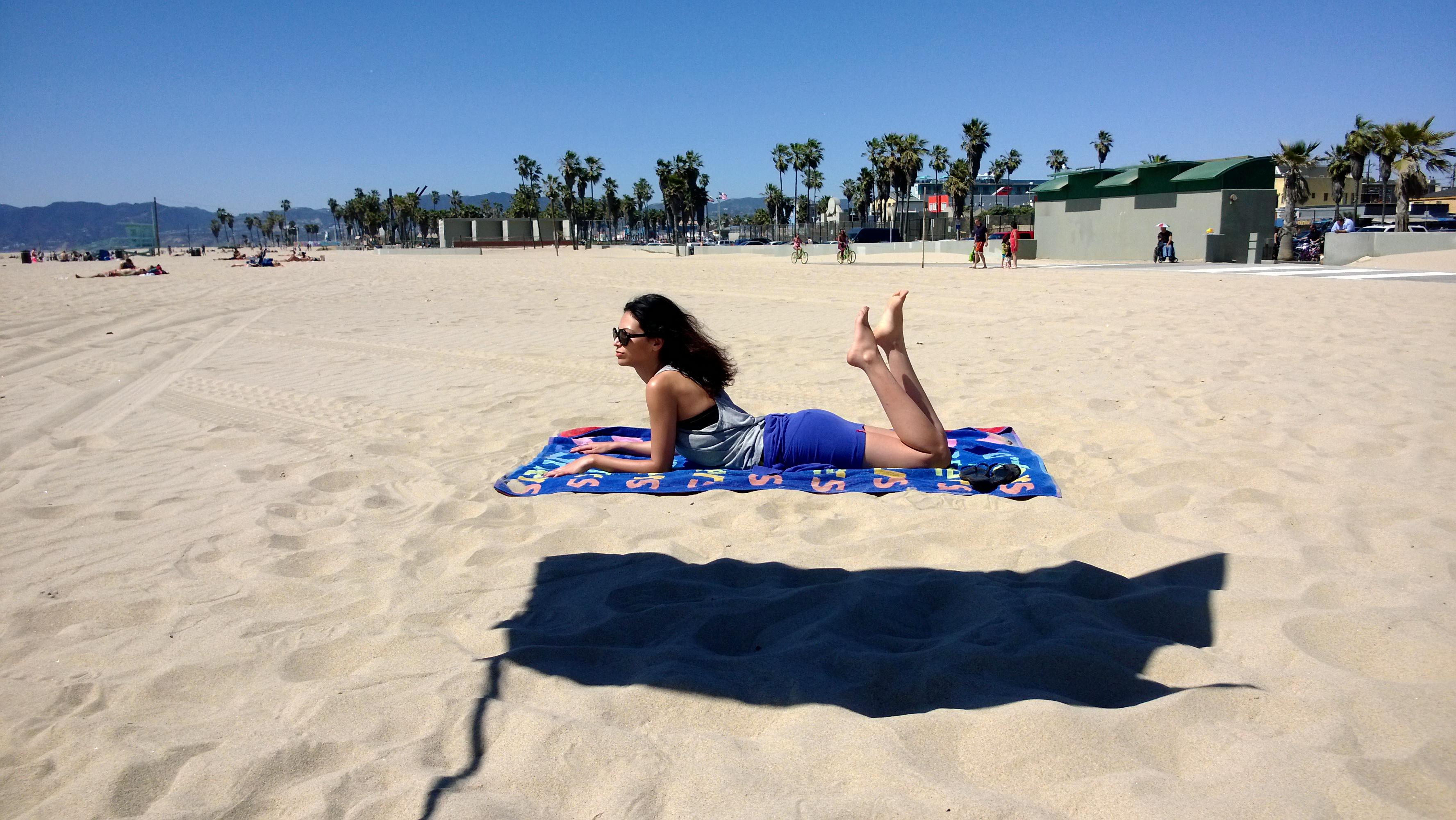 Nokia fotos tomadas con el Lumia 925 en la playa mujer