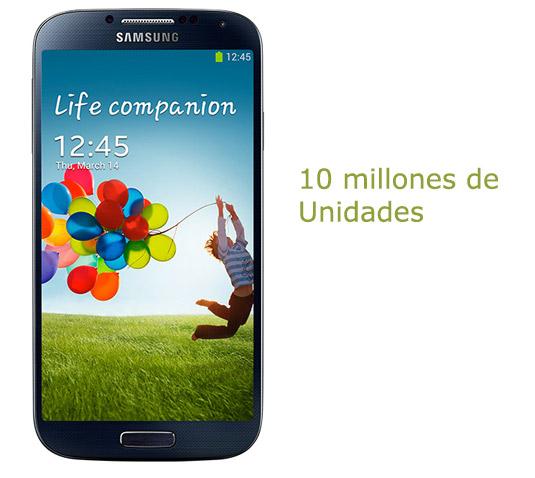 Samsung Galaxy S4 10 millones de unidades vendidas
