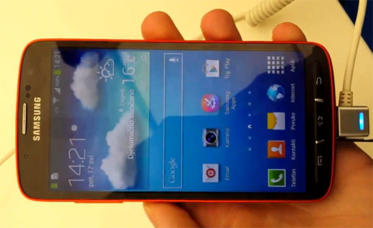 Samsung Galaxy S4 Active en primer Video