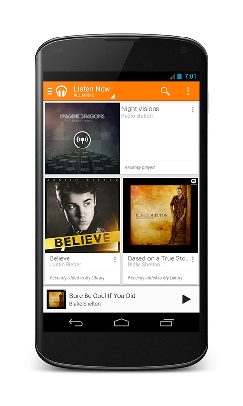 Google Play Music All Acces en Nexus