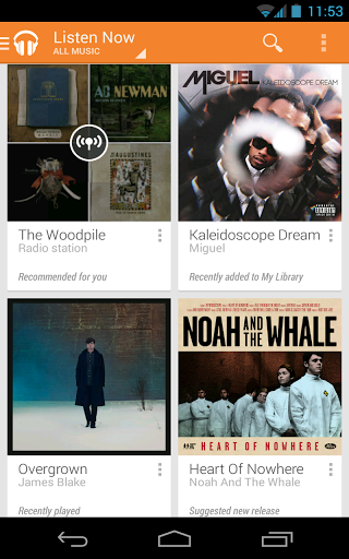 App de Google Play Music