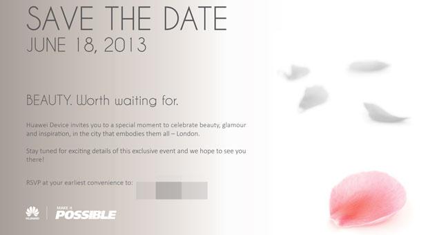 Huawei Invitación 18 junio 2013