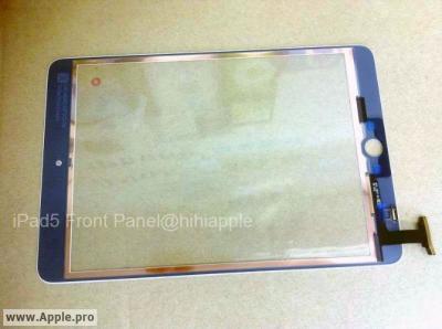 Foto del panel frontal del iPad 5