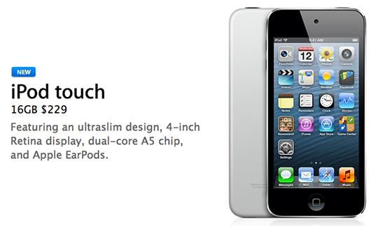 Apple iPod Touch 16 GB sin cámara trasera