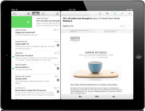 Lanzan Mailbox para iPad
