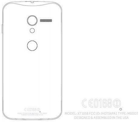 Motorola X Phone XT1058 FCC dibujo