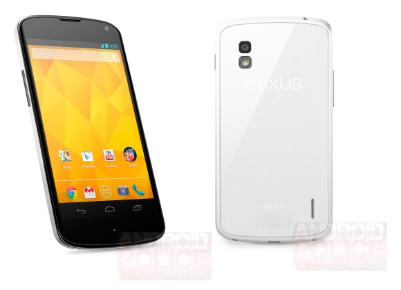 Nexus 4 Color blanco white imagen oficial de prensa