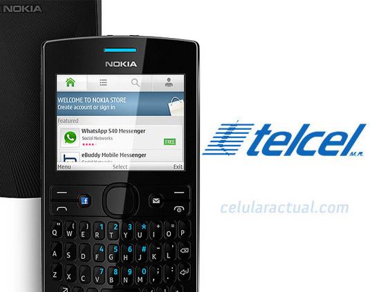 Nokia Asha 205 en México con Telcel