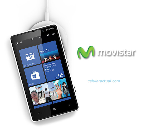 Nokia Lumia 820 con Movistar en México color blanco