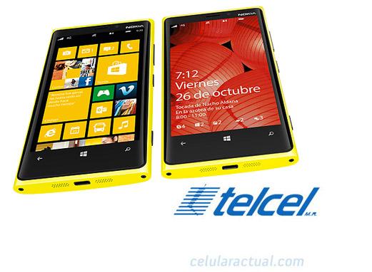 Nokia Lumia 920 amarillo en México con Telcel