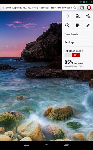 El browser Opera en Android