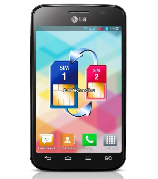 LG Optimus L4dual-SIM color negro black