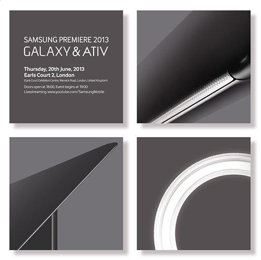Samsung alista evento Galaxy & Ativ para el 20 de junio