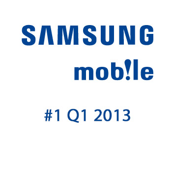 Samsung mobile número uno en ventas 2013 Q1