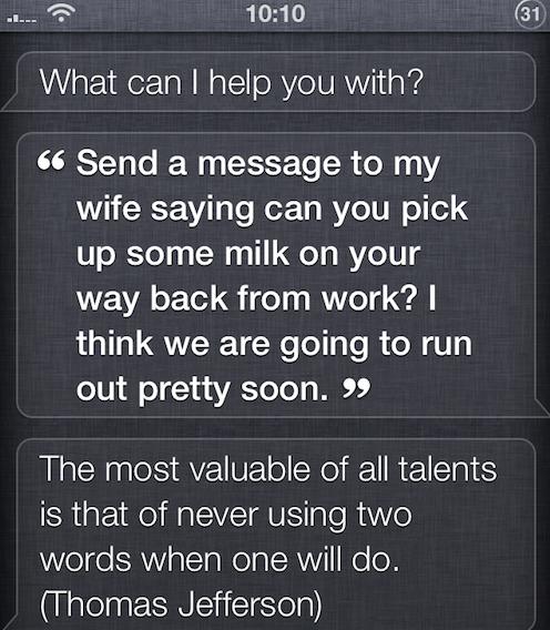 Siri en inglés