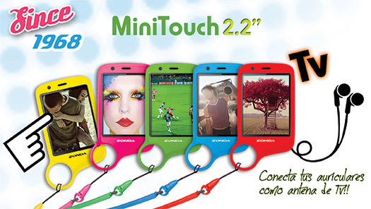 Zonda ZM56 MiniTouch con TV en México