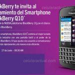 BlackBerry Q10 en México se presenta el 27 de junio