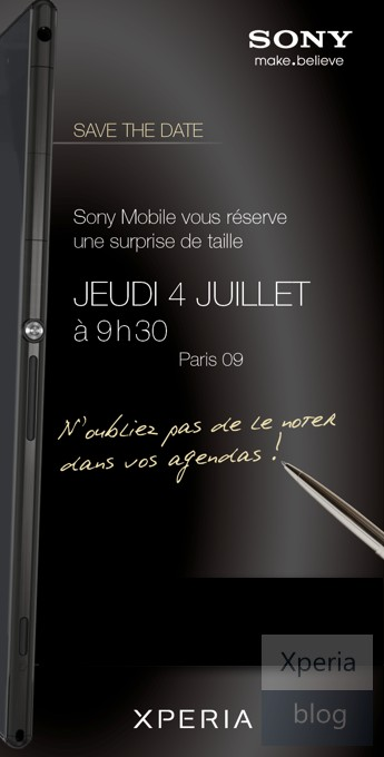 Xperia Z Ultra Phablet de Sony invitation