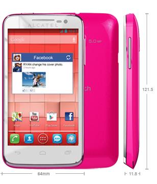 Alcatel One Touch M'Pop color rosa