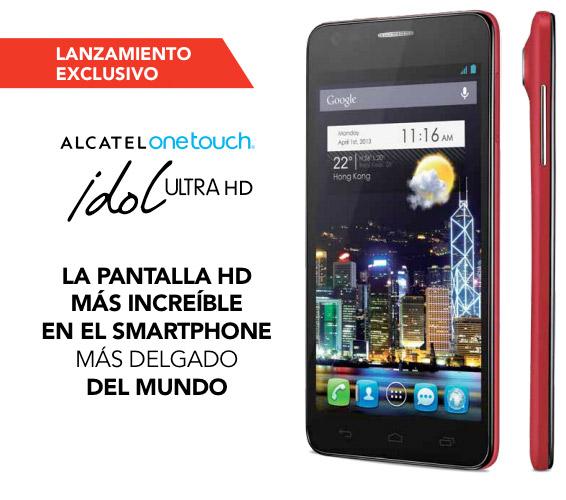 94022b47185 Alcatel One Touch Idol Ultra en México con Iusacell el más delgado
